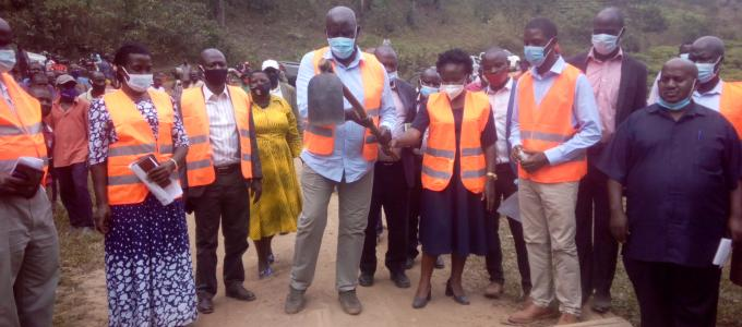 Official Launch of the construction of Keijegye bridge that  boarders Bitooma and Ruhumuro subcounty